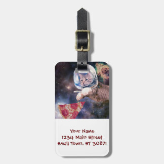 cat astronaut - funny cats - cats in space luggage tag