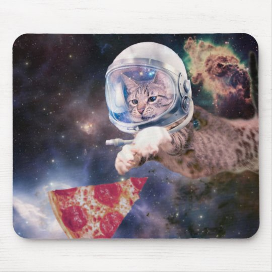 cat astronaut - funny cats - cats in space mouse pad