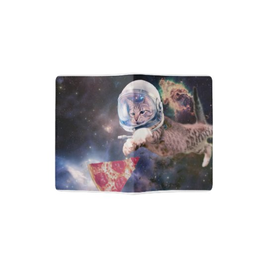 cat astronaut - funny cats - cats in space passport holder