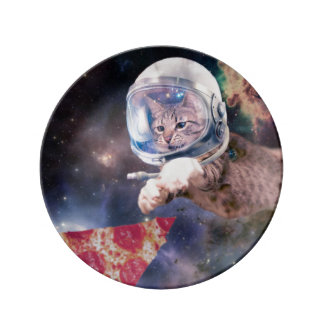 cat astronaut - funny cats - cats in space plate
