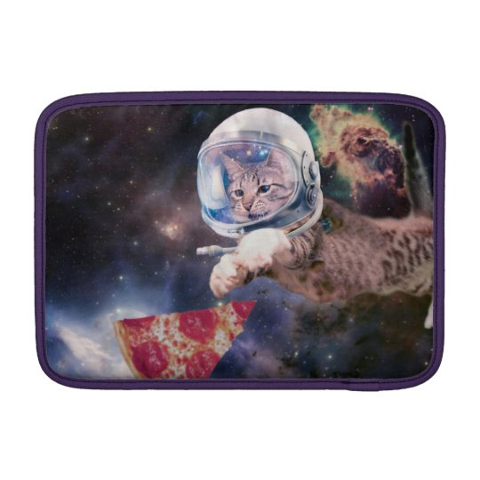 cat astronaut - funny cats - cats in space sleeves for MacBook air