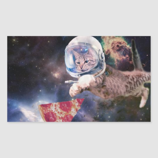 cat astronaut - funny cats - cats in space sticker