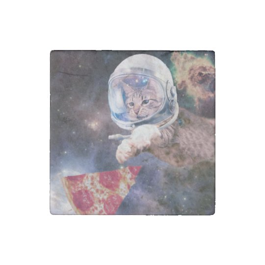 cat astronaut - funny cats - cats in space stone magnets