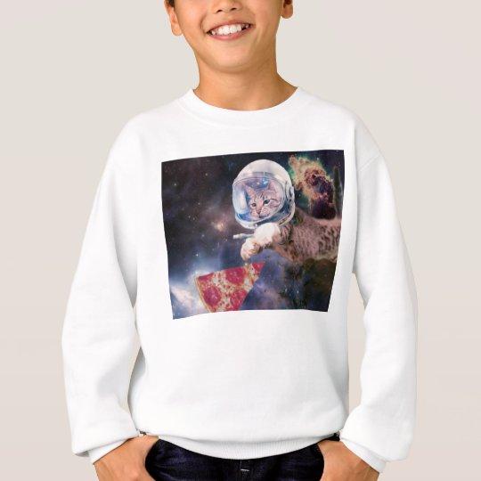 cat astronaut - funny cats - cats in space sweatshirt