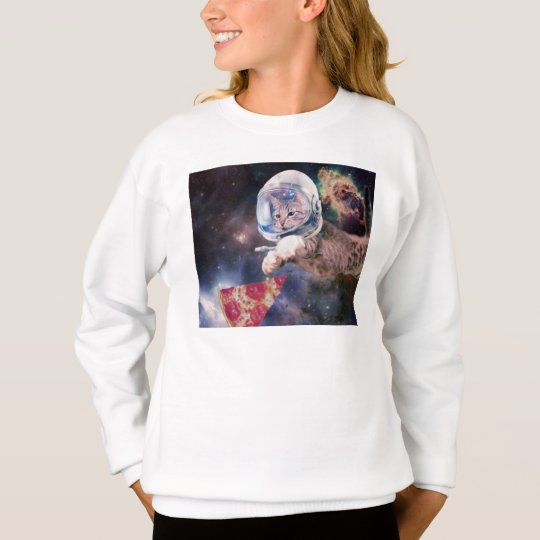 cat astronaut - funny cats - cats in space sweatshirt