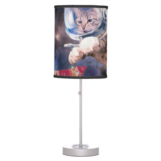 cat astronaut - funny cats - cats in space table lamp
