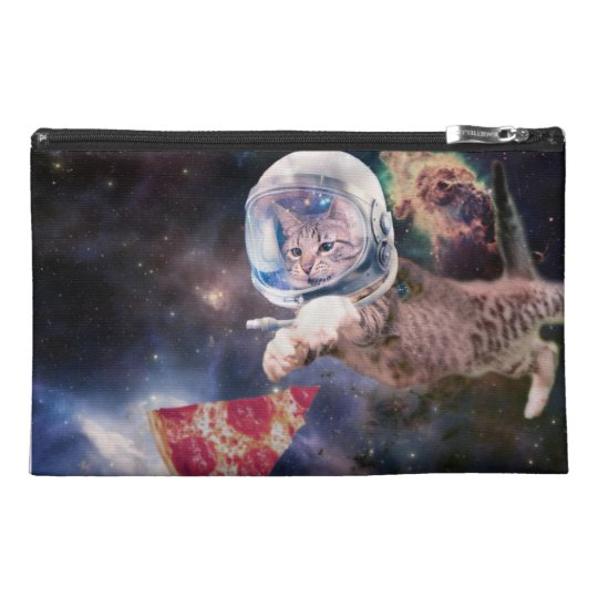 cat astronaut - funny cats - cats in space travel accessory bag