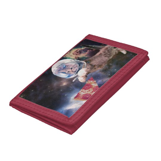 cat astronaut - funny cats - cats in space trifold wallets