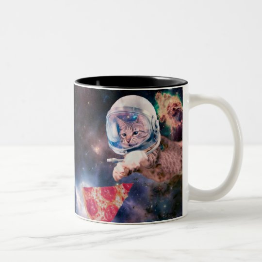 cat astronaut - funny cats - cats in space Two-Tone coffee mug