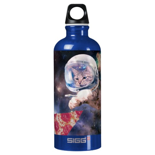 cat astronaut - funny cats - cats in space water bottle