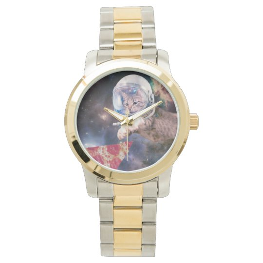 cat astronaut - funny cats - cats in space wrist watch