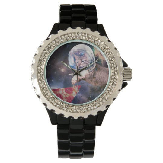 cat astronaut - funny cats - cats in space wristwatch