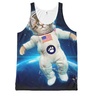 Cat astronaut - space cat - Cat lover All-Over-Print Tank Top
