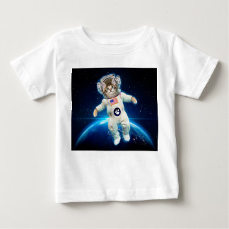 Cat astronaut - space cat - Cat lover Baby T-Shirt
