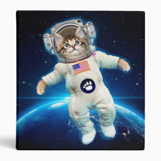 Cat astronaut - space cat - Cat lover Binder
