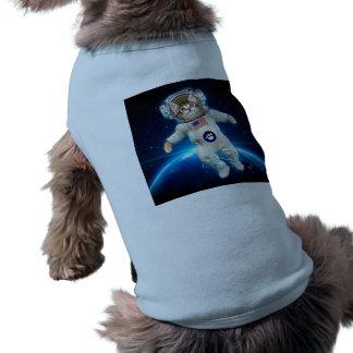 Cat astronaut - space cat - Cat lover Doggie Shirt