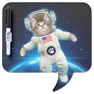 Cat astronaut - space cat - Cat lover Dry Erase Board