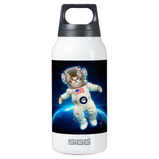 Cat astronaut - space cat - Cat lover Insulated Water Bottle