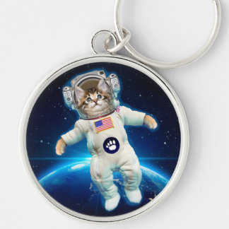 Cat astronaut - space cat - Cat lover Keychain