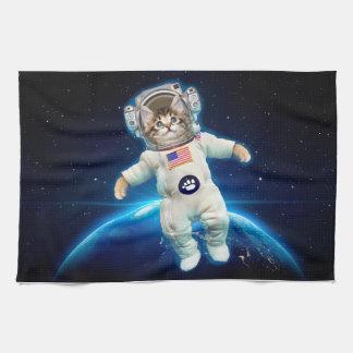 Cat astronaut - space cat - Cat lover Kitchen Towel