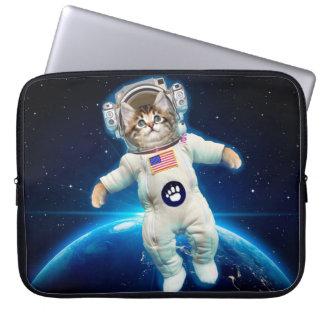 Cat astronaut - space cat - Cat lover Laptop Sleeve