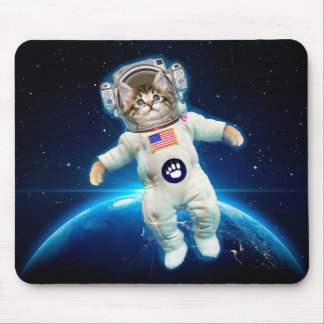 Cat astronaut - space cat - Cat lover Mouse Pad