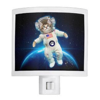 Cat astronaut - space cat - Cat lover Night Lights
