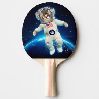 Cat astronaut - space cat - Cat lover Ping Pong Paddle