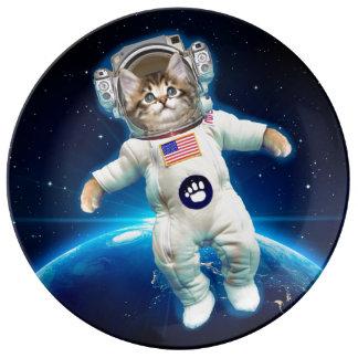 Cat astronaut - space cat - Cat lover Plate