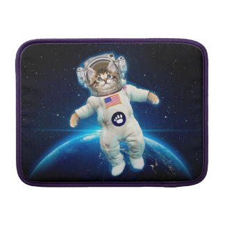 Cat astronaut - space cat - Cat lover Sleeve For MacBook Air