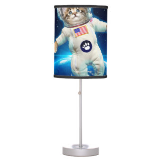 Cat astronaut - space cat - Cat lover Table Lamp