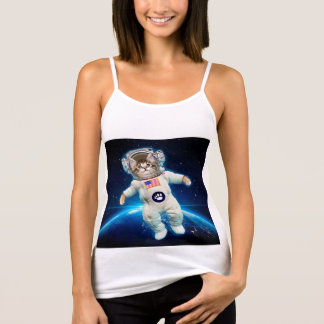 Cat astronaut - space cat - Cat lover Tank Top