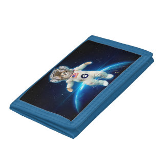Cat astronaut - space cat - Cat lover Tri-fold Wallet