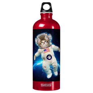 Cat astronaut - space cat - Cat lover Water Bottle