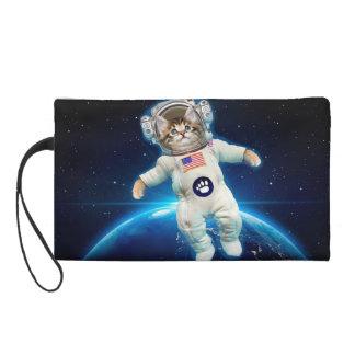 Cat astronaut - space cat - Cat lover Wristlet