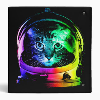 Cat astronaut - space cat - funny cats binder