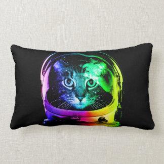 Cat astronaut - space cat - funny cats lumbar pillow