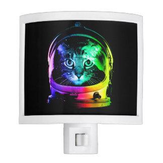 Cat astronaut - space cat - funny cats nite light