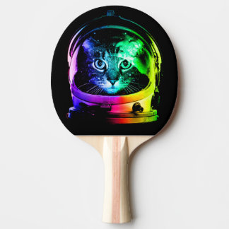 Cat astronaut - space cat - funny cats ping pong paddle