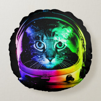 Cat astronaut - space cat - funny cats round pillow