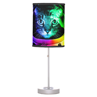 Cat astronaut - space cat - funny cats table lamp