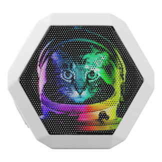 Cat astronaut - space cat - funny cats white bluetooth speaker