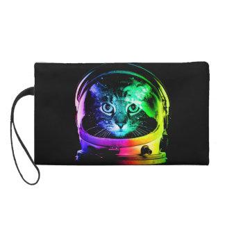 Cat astronaut - space cat - funny cats wristlet