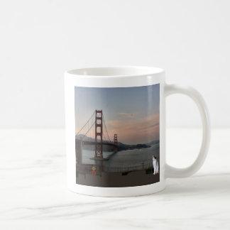 Cat at Golden Gate Bridge Coffee Mug