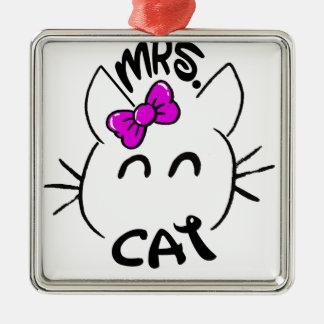 Cat baby metal ornament