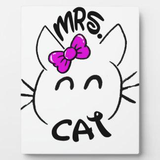 Cat baby plaque