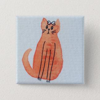 Cat badge 2 inch square button
