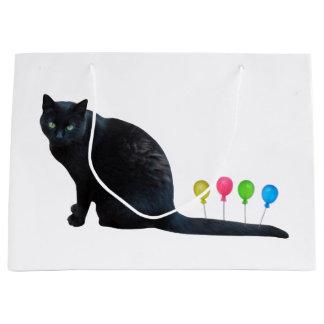 Cat Balloons Gift Bag
