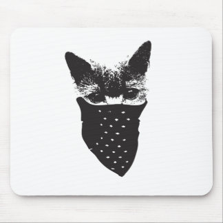 cat bandana mouse pad
