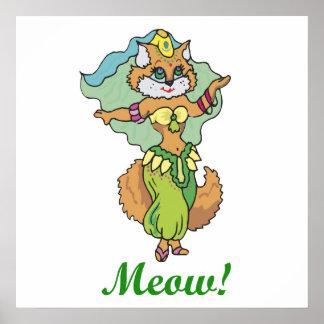 Cat Belly Dancer Poster